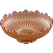 Vintage Pearlized Carnival Glass Bowl