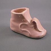 Miniature Ceramic Light Pink Baby Shoe