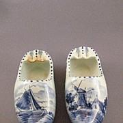 Ceramic Large Delfts Clog Ashtrays