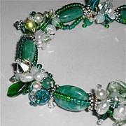 SALE Garden~  Russian Amazonite Garland Bracelet