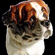 Huge Saint Bernard Dog  Porcelain Figurine Manufactory Goebel Germany