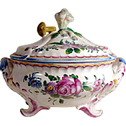Gorgeous French Faience Tureen