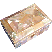 SALE Lovely Miniature Mother of Pearl Box