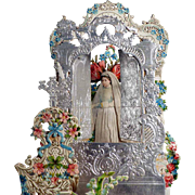 Large French Die-Cut Fold Out Card 3D Sacrament 1907