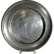 Pewter Plate Dated 1874