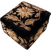 SALE Charming Box Velvet Metallic Embroidery Flowers Paste Stones