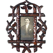 SOLD Pair of Matching Wall Frames Hand Carving Black Forest ca. 1920