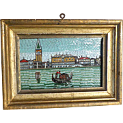 19th Century Micro Mosaic Picture Venice Palace of the Doges