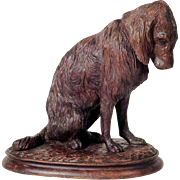 Excellent Hand Carved  Chase Dog Setter  Black Forest ca. 1900