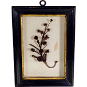 Mourning Hair Picture Shadow Box ca. 1860/80