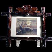 Lovely Treen Frame Black Forest Hand Carved ca. 1920