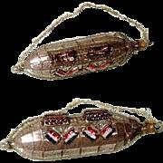 SOLD Christmas Ornament Mercury Glass Zeppelin ca. 1930