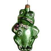 SOLD Disappointed Frog Gentleman – Christmas Ornament