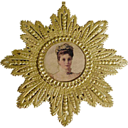 SOLD Christmas Ornament Dresden  Cardboard  Empress Tsarina  Alexandra of Russia