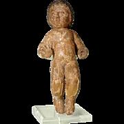 Hand Carving Creche Figurine Crab Baby Jesus  19th Century