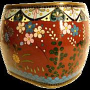 Cloisonné Vase Enamel on Copper Late Qing Dynasty