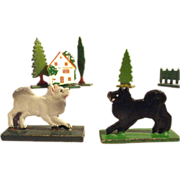 German House Dogs Pomeranian Cat Trees for Doll Village