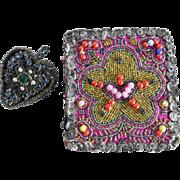 Two Beautiful German Costume Embroideries Beadwork ca. 1920