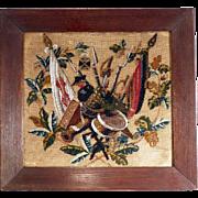 Gorgeous Historical Sampler Beadwork Army 1871