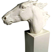 SALE Horse Head Homage to Hannibal, Derby Winner 1890 Rosenthal Manufactory