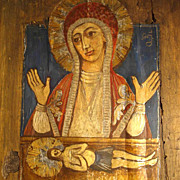 SALE Old Pieta Icon Folk Art ca. 1900