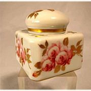 SALE Lovely China Porcelain Ink Well Limoges