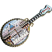 19C Micro Mosaic Brooch St Peter Rome Particularly Shape