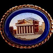 Micro Mosaic Brooch Lapis Lazuli – Rome Grand Tour Souvenir