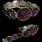 Early Victorian  Era Bohemian Garnet Bracelet