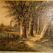 19th Century Landscape Signed L. Henry Barbizon School