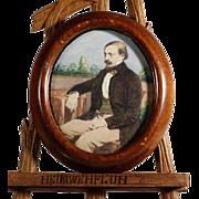 German Miniature Painting of Gentleman  Late 19th Century