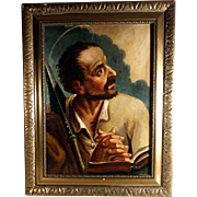 Late 18th Century Religious Painting Saint Thomas the Apostle