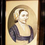SALE 19th Century Portrait of a Lady