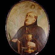 Rare Baroque Religious Painting John the Apostle
