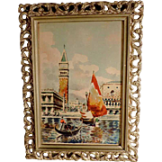 St Mark and the Doges Palace Venice Water Color Artist Signed
