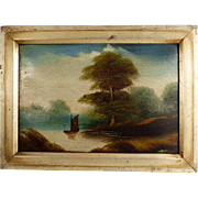 SOLD River Landscape Thames ca. 1890