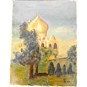 Landscape with Mosque Turkey Orient