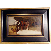 Excellent Study with Horses ca. 1900