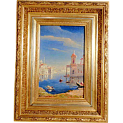 SOLD 19th Century Stunning View of Venice Signed