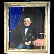 SOLD Excellent Portrait Gentleman Biedermeier Era 1850