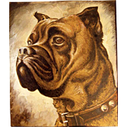 SOLD Incredible Water Color Boxer Dog