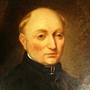 SALE 19th Century Excellent Portrait of a Church Man  Dutch School