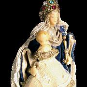 SALE Monastery Work Virgin with Child Wax Sculpture Cerostata