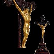 Rare Old Jansenist Crucifix ca. 1850