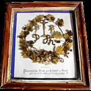 Beautiful German Memento  Petronilla Diem 1858