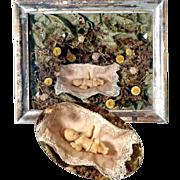 Reliquary Wax Baby Jesus Shadow Box Monastery Work Cerostata ca. 1900