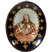 19th Century  Large Reliquary Sacred Heart of Jesus