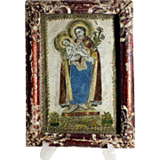 Early 19th Century Monastery Work Saint Joseph and Baby Jesus