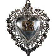 Beautiful Ex-Voto Votiv Offering Most Sacred Heart of Jesus about 1920