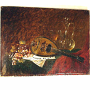 SOLD 19th Century French Still Life Le Vin de Marsala